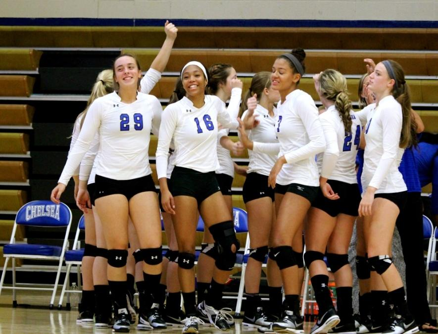 The Chelsea volleyball team is off to a strong start to the season.