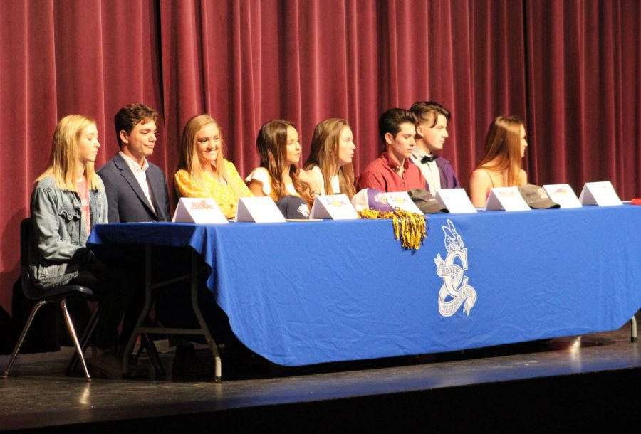Chelsea athletes sign college scholarships