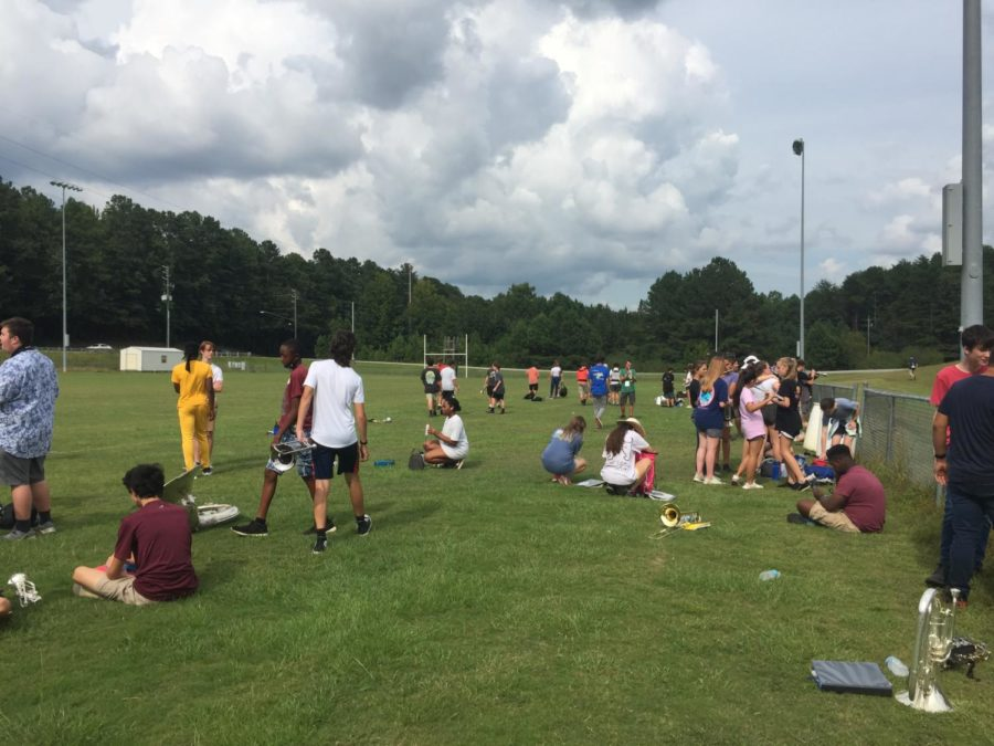 Marching students prepare for upcoming competition